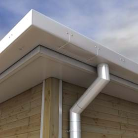 GX pressed aluminium gutters product range image